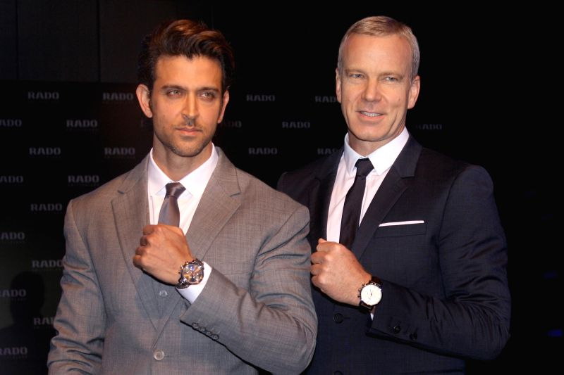 Actor Hrithik Roshan at the launch of RADO's `DiaMaster Ceramic Collection` in New Delhi on Aug 27, 2014. - Hrithik Roshan
