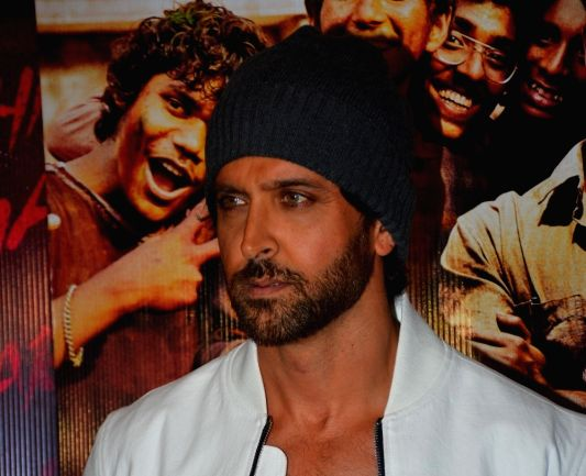 "Actor Hrithik Roshan at the wrap-up party of his upcoming film ""Super 30"" in Mumbai on Sept 5, 2018."