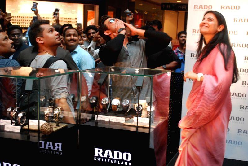 Actor Hrithik Roshan during a programme in Hyderabad, on Aug 1, 2016. - Hrithik Roshan