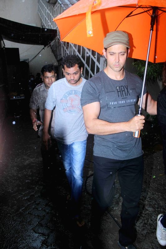 Actor Hrithik Roshan spotted at Mehboob Studio, in Mumbai, on July 29, 2016. - Hrithik Roshan
