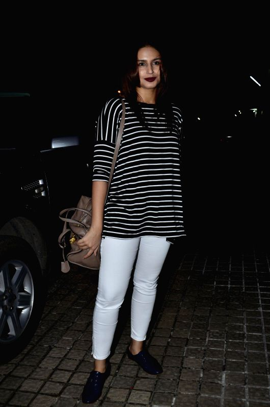 Actor Huma Quresh during the screening of the film Katiyabaaz in Mumbai, on Aug. 20, 2014. - Huma Quresh