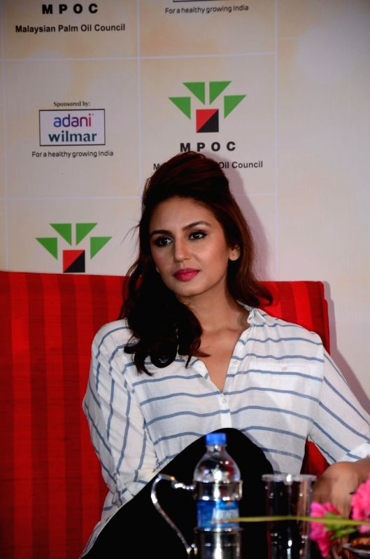 Actor Huma Qureshi during a cooking competition held by Malaysian Palm Oil Council (MPOC) named Fun, Food Lifestyle in Mumbai, on June 27, 2014.