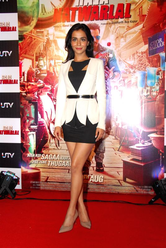 Actor Humaima Malick during the trailer launch of film Raja Natwarlal in Mumbai on July 18, 2014. - Humaima Malick