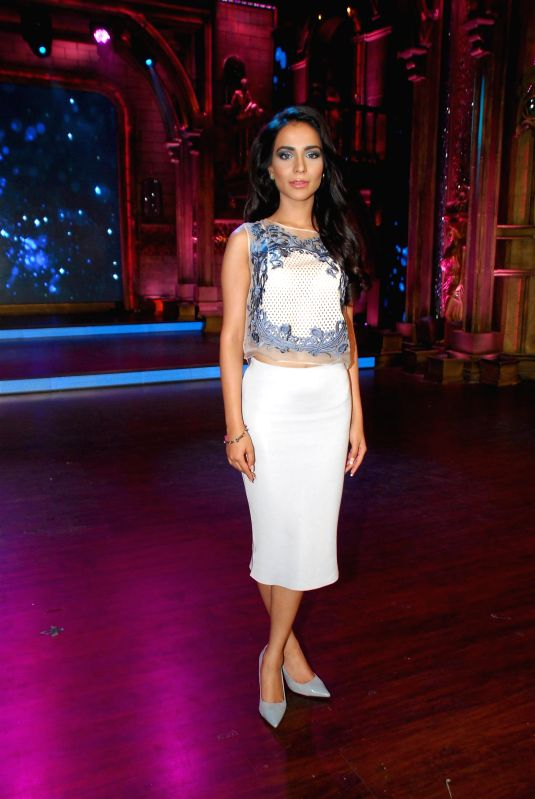 Actor Humaima Malik during the Promotion of film Raja Natwarlal on Zee TV show India`s Best Cine Stars Ki Khoj 2014 sets in Mumbai on Aug 11, 2014. - Humaima Malik