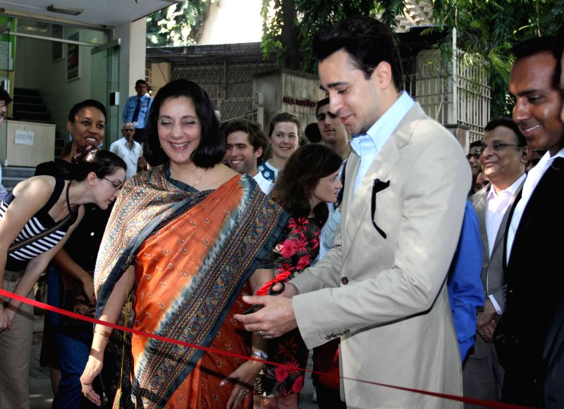 Actor  Imran Khan during the inauguration of Indian Merchants Chamber (IMC) Lets look East: Embracing the Eastern Portlands exhibition in Mumbai, on Nov 27, 2014.