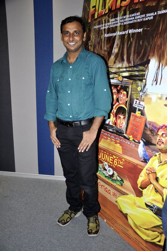 Actor Inam during the launch of a new app Main Filmistani for the national award winning film Filmistan in Mumbai on April 28, 2014. - Inam