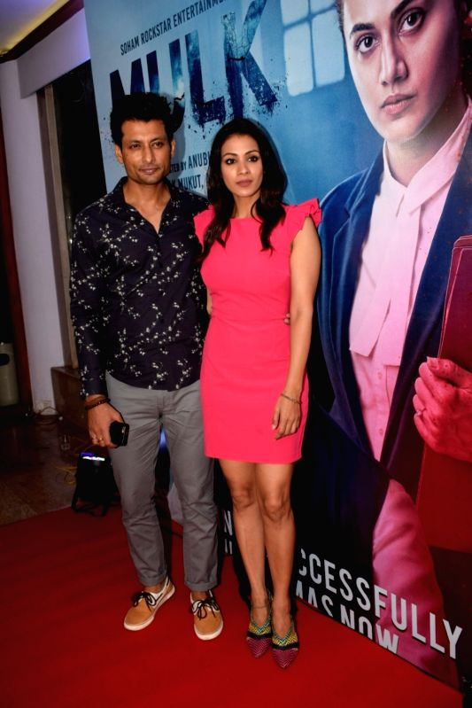 "Actor Indraneil Sengupta along with his wife Barkha Sengupta at the success party of his film ""Mulk"" in Mumbai on Aug 10, 2018. - Indraneil Sengupta"
