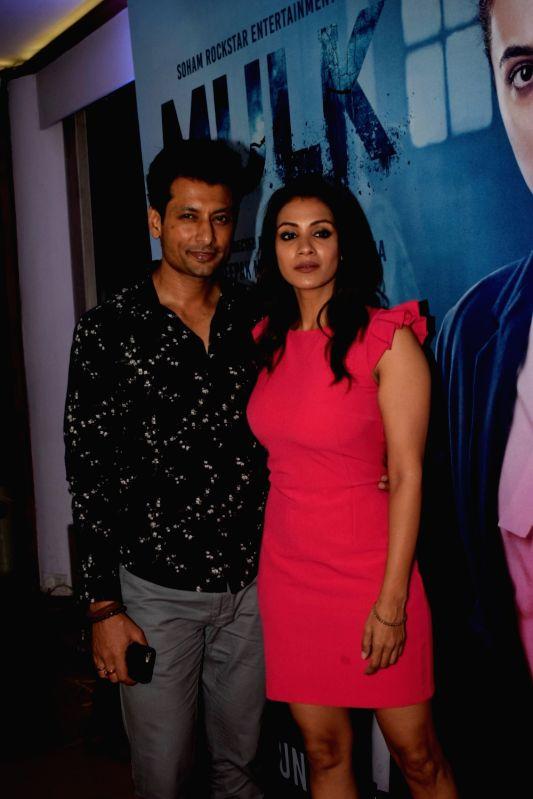 "Actor Indraneil Sengupta along with his wife Barkha Sengupta at the success party of his film ""Mulk"" in Mumbai on Aug 10, 2018. - Indraneil Sengupta"