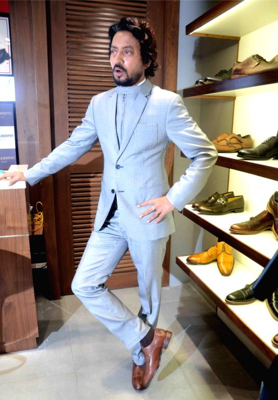 Irfan khan at johnston murphy store for A t the salon johnstone