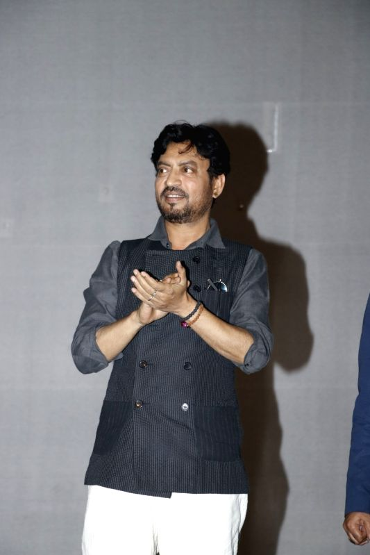 "Actor Irrfan Khan during a programme organised to promote film ""Hindi Medium"" in New Delhi on May 12, 2017. - Irrfan Khan"