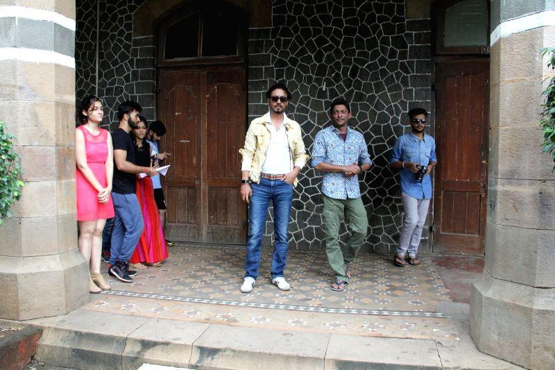 Actor Irrfan Khan during the promotion of film Madaari at Wilson college in Mumbai, on July 10, 2016. - Irrfan Khan