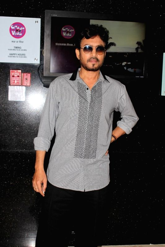 Actor Irrfan Khan spotted during Promotion of Film Hindi Medium in Mumbai on May 7, 2017. - Irrfan Khan