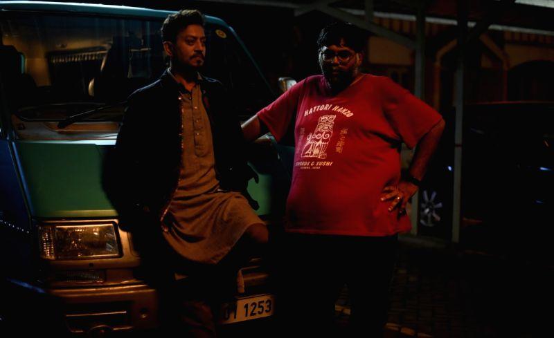 Actor Irrfan Khan with director Akarsh Khurana. - Irrfan Khan