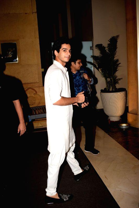 Actor Ishaan Khattar arrives at the red carpet of fashion designer Manish Malhotra's haute couture show, in Mumbai on Aug 1, 2018. - Ishaan Khattar and Manish Malhotra