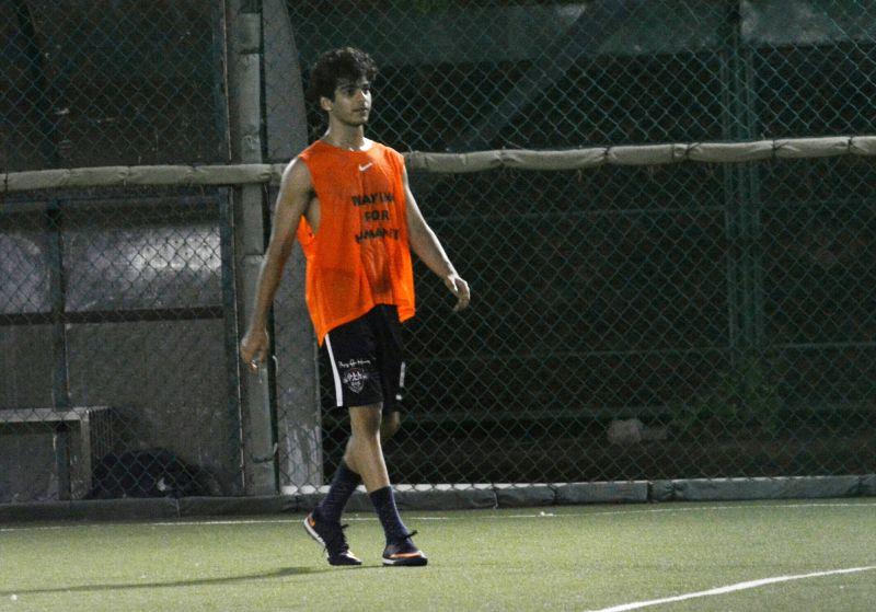 Actor Ishaan Khatter during a football match in Bandra, Mumbai on July 22, 2018. - Ishaan Khatter