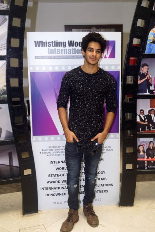 Actor Ishaan Khatter during a interactive session with students at the Whistling Woods in Mumbai on Aug 8, 2018. - Ishaan Khatter