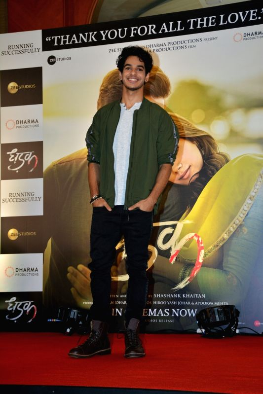 "Actor Ishaan Khatter during the success meet of his film ""Dhadak"" in Mumbai on July 26, 2018. - Ishaan Khatter"