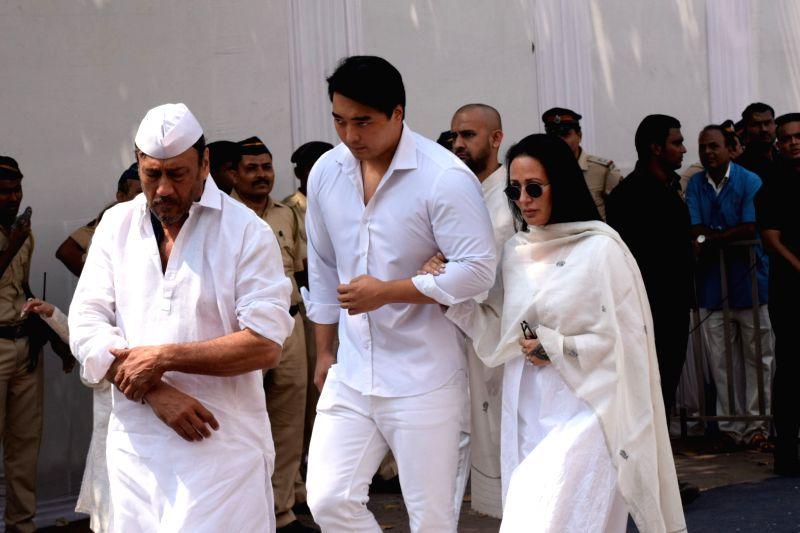 Actor Jackie Shroff Along With Wife Ayesha Shroff And