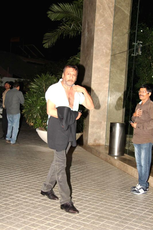 Actor Jackie Shroff during the birthday party of Farah Khan in Mumbai, on jan. 08, 2015. - Jackie Shroff