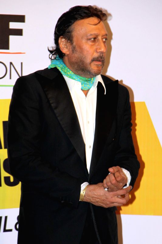 Actor Jackie Shroff during the 'Invitational Championship' prize distribution ceremony organised by Yes Bank Golf Foundation in New Delhi on May 4, 2014. - Jackie Shroff