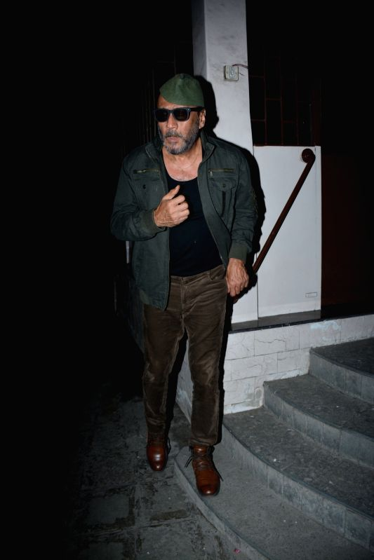 Actor Jackie Shroff seen at Mumbai's Bandra on Aug 9, 2018. - Jackie Shroff