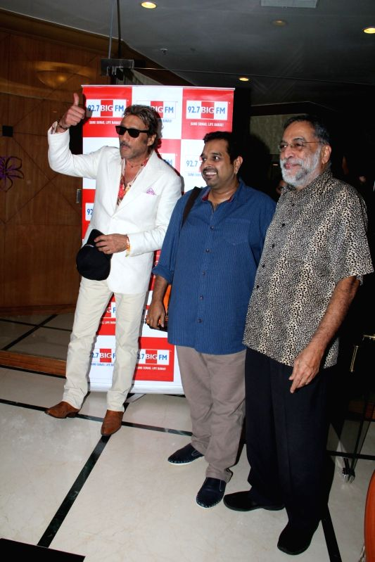 Actor Jackie Shroff, singer Shankar Mahadevan and Vithal Kamat, Hotelier and educator during the press conference of 92.7 BIG FM 14 national finalists of Benadryl BIG Golden Voice Season 3 in ... - Jackie Shroff