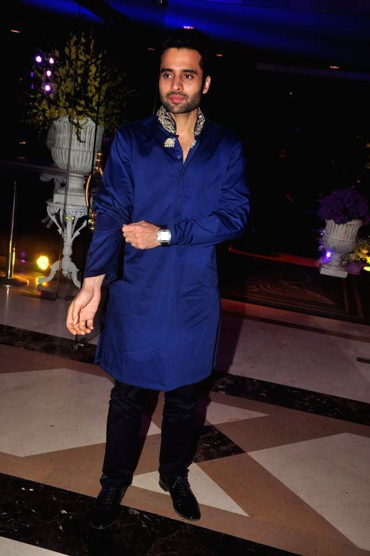 Actor Jacky Bhagnani at the Sangeet ceremony of Uday Singh - the brother is of actor Vikram Singh - and Shirin Morani in Mumbai. - Jacky Bhagnani and Vikram Singh