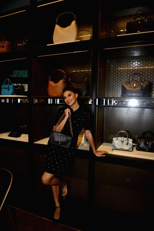 Actor Jacqueline Fernandez during the Coach launch celebrations in Mumbai, on Aug 4, 2016. Coach celebrates  the launch of its first store in India. - Jacqueline Fernandez