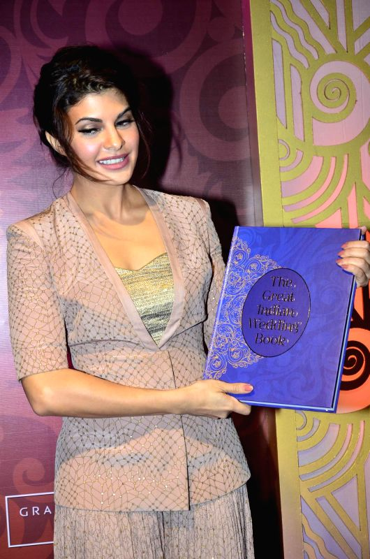Actor Jacqueline Fernandez during the second edition launch of book The Great Indian Wedding Book in Mumbai on June 18, 2014. - Jacqueline Fernandez