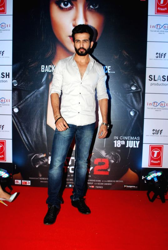 Actor Jay Bhanusali during the promotion of film Hate Story 2 in Mumbai on July 12, 2014. - Jay Bhanusali