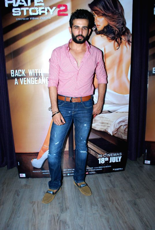 Actor Jay Bhanushali during a media interaction of his upcoming film Hate Story 2 in Mumbai  on 5th July 2014 - Jay Bhanushali