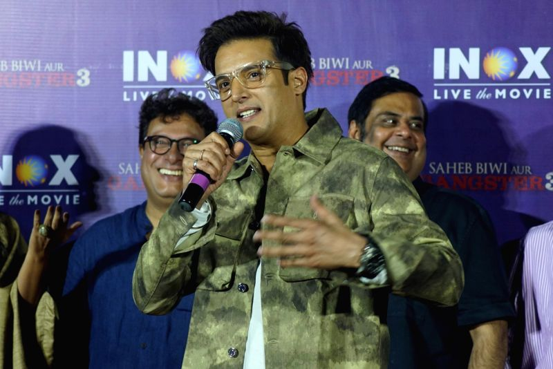 """Actor Jimmy Sheirgill at the promotion of his upcoming film """"Saheb Biwi Aur Gangster 3"""" in Mumbai on July 23, 2018. - Jimmy Sheirgill"""