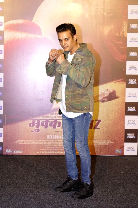 "Actor Jimmy Shergill  at the trailer launch of his upcoming film ""Mukkabaaz"" in Mumbai on Dec 7, 2017. - Jimmy Shergill"