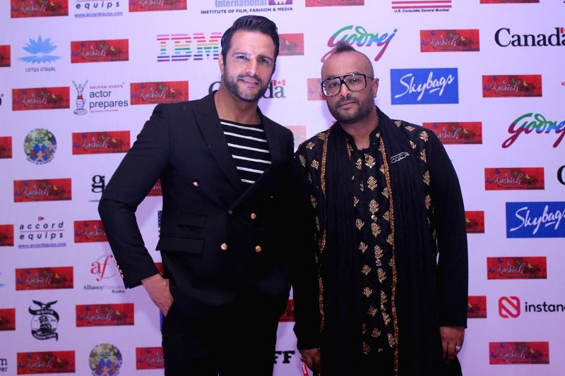 Actor Jitin Gulati and Director Faraz Arif Ansari during the eighth edition of Kashish Mumbai International Queer Film Festival that kicked-off in Mumbai with 147 movies from 45 countries ... - Jitin Gulati