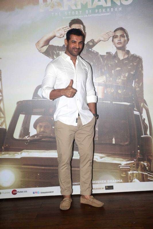 "Actor John Abraham at the success party of his film ""Parmanu: The Story of Pokhran"" in Mumbai on June 12, 2018. - John Abraham"
