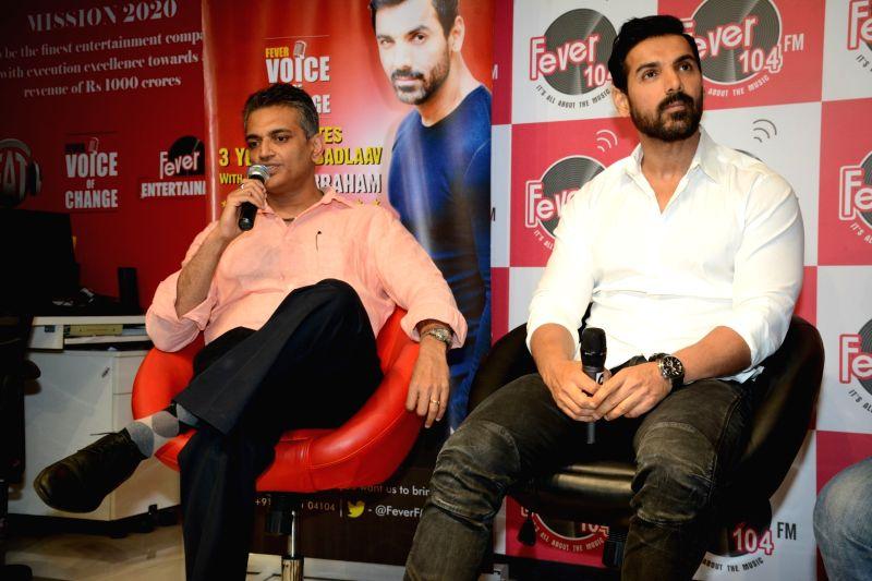 Actor John Abraham celebrate 3 year of Fever Voice of Change in Mumbai on April 26, 2017. - John Abraham