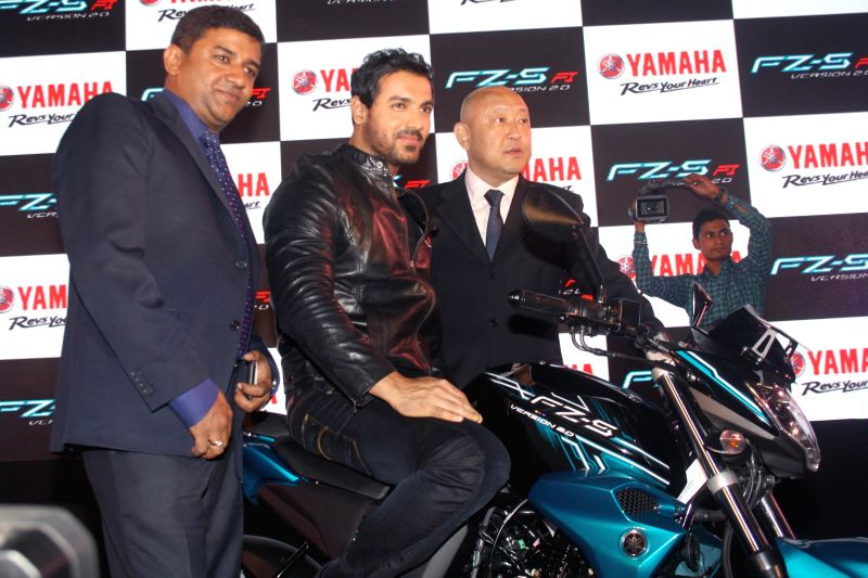 Actor John Abraham during launch of Yamaha FZ and FZ-S in New Delhi on June 30, 2014.