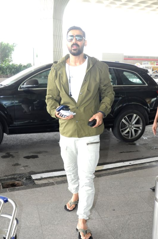 Actor John Abraham spotted at Airport in Mumbai, on June 14, 2017. - John Abraham