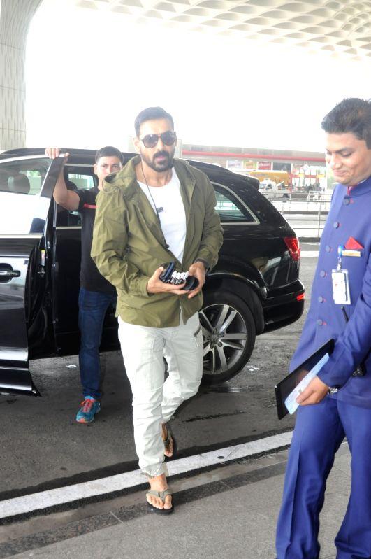 Actor John Abraham spotted at Airport in Mumbai, on June 14, 2017. - John Abraham