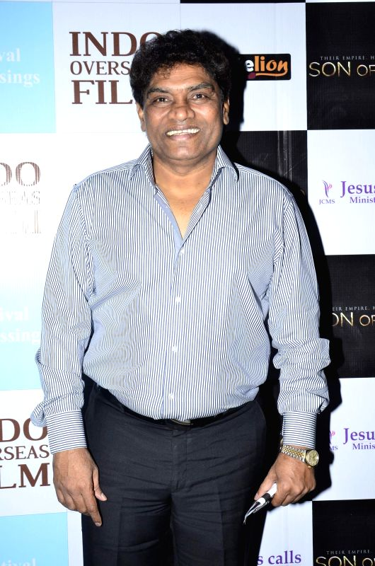 Actor Johnny Lever during the premiere of Hollywood film Son of God, in Mumbai on Monday, April 14, 2014. - Johnny Lever