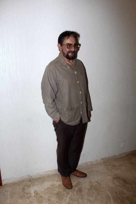 "Actor Kabir Bedi during the screening of short film ""School Bag"" in Mumbai, on June 13, 2017. - Kabir Bedi"