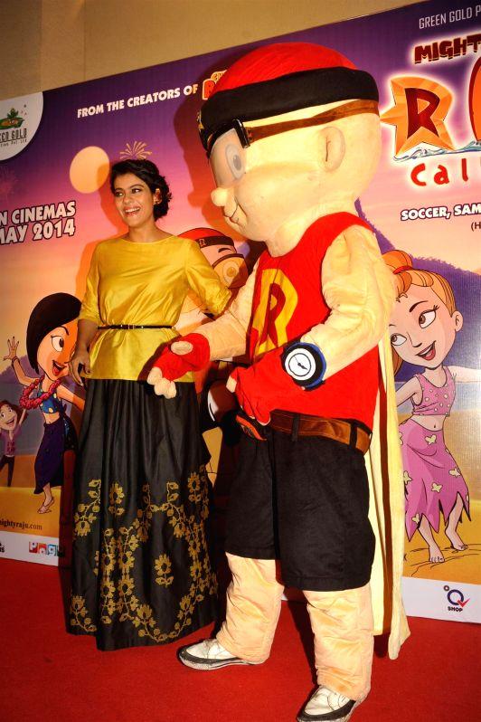 Actor Kajol Devgan during the press conference of animation film Mighty Raju Rio Calling in Mumbai on May 09, 2014. - Kajol Devgan