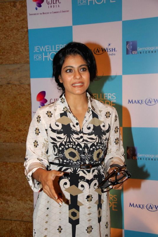 Actor Kajol Devgn during the Jewellers For Hope event of GJEPC at Hotel Grand Hyatt in Mumbai on July 18, 2014. - Kajol Devgn