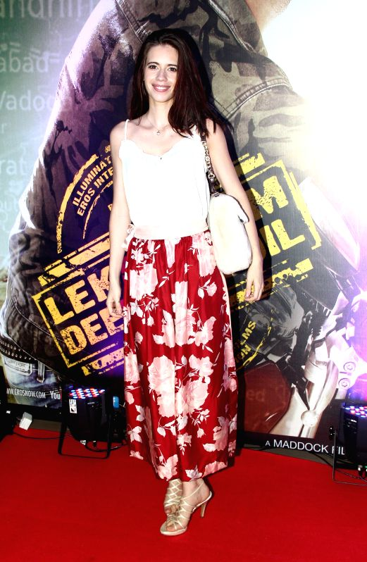 Actor Kalki Koechlin during the premiere of film Lekar Hum Deewana Dil at PVR Cinemas in Mumbai, on July 3, 2014. - Kalki Koechlin