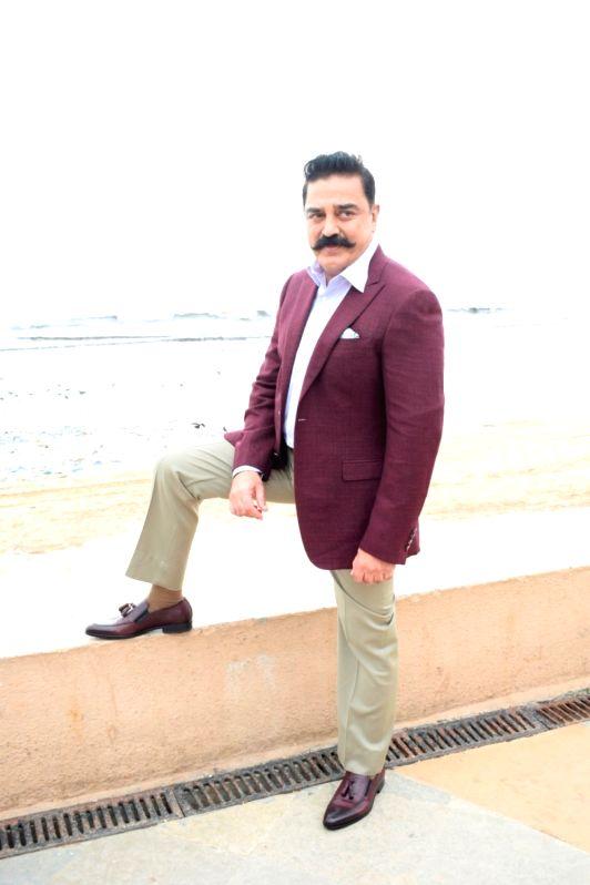 "Actor Kamal Haasan during the promotion of his upcoming film  ""Vishwaroopam 2"" in Mumbai on July 31, 2018. - Kamal Haasan"