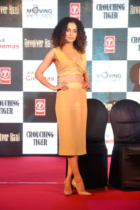 Actor Kangana Ranaut during the press conference of film Revolver Rani in Mumbai, on April 10, 2014. - Kangana Ranaut