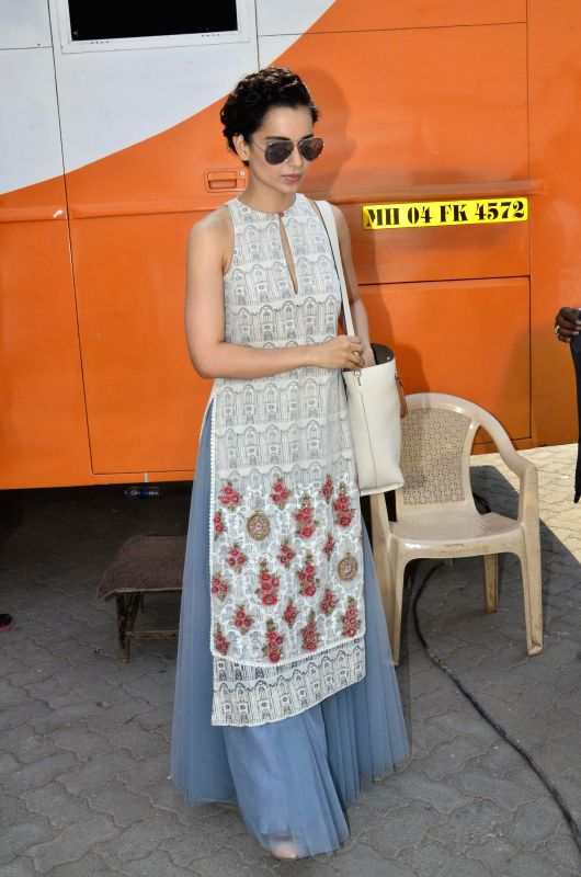 Actor Kangana Ranaut during the press interaction of the movie Revolver Rani in Mumbai on April 23, 2014. - Kangana Ranaut