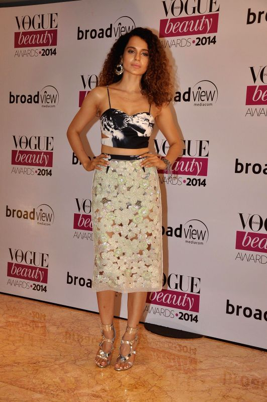 Actor Kangana Ranaut during the Vogue Beauty Awards 2014, in Mumbai on July 22, 2014. - Kangana Ranaut