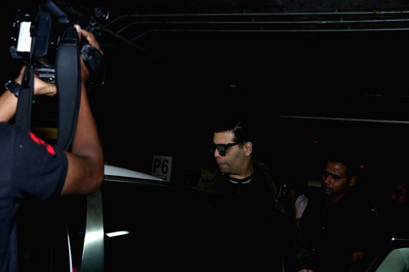 Actor Karan Johar spotted at airport in Mumbai on May 23, 2017. - Karan Johar