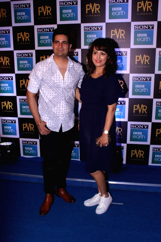 "Actor Karan Mehra along with his wife Nisha Rawal at the screening of Sony BBC Earth's film ""Blue Planet II: One Ocean & The Deep"" in Mumbai on May 15, 2018. - Karan Mehra"